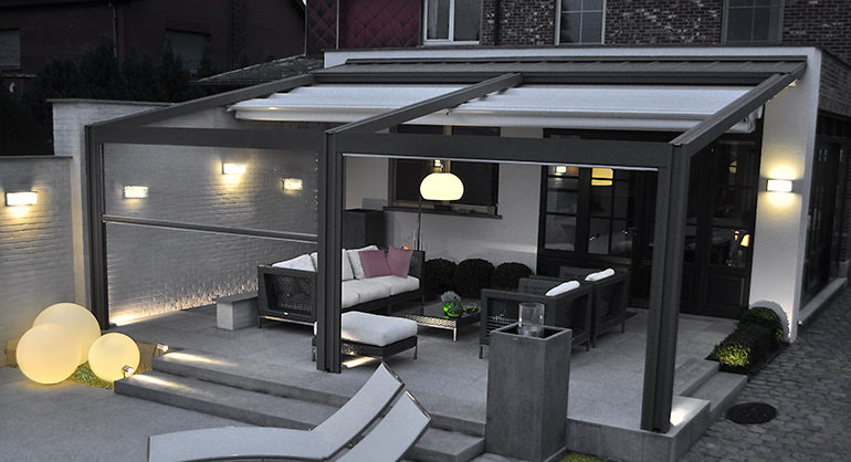 Outdoor Living Space Covered Patio Roof