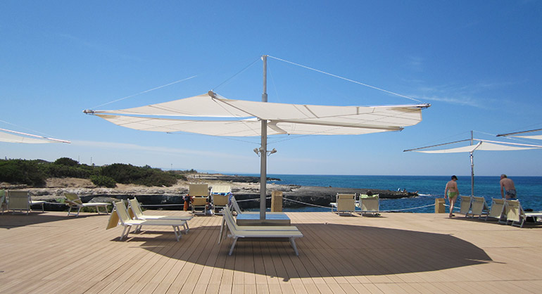 Free Standing Shade Sails